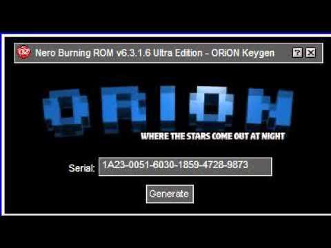 ORiON Keygen Music (Nero Burning ROM 6.3.1.6)