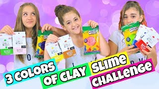 Video 3 Colors of Clay Slime Challenge!  Daiso vs. Model Magic Clay Slime! MP3, 3GP, MP4, WEBM, AVI, FLV September 2018