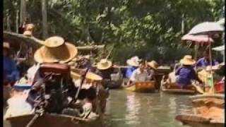 Thailand World Famous Floating River Market Travel Vacation Holiday Family Hotel Airline Fun