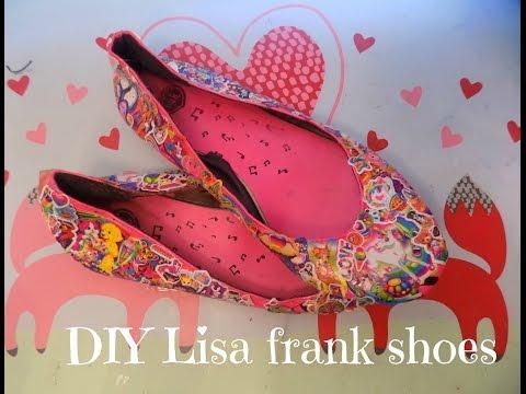 DIY Lisa Frank Sticker Shoes