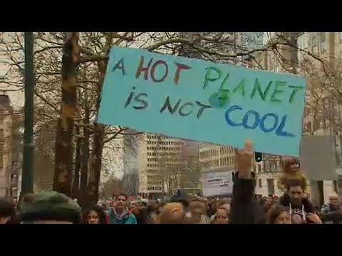 Διαδήλωση για το κλίμα στις Βρυξέλλες
