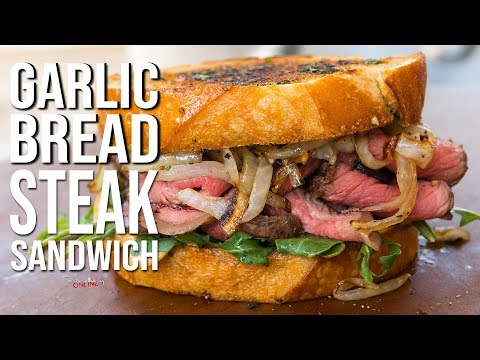 Garlic Bread Steak Sandwich | SAM THE COOKING GUY