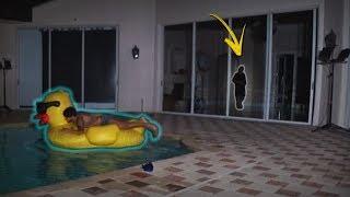 INVADI A MANSÃO BREAKMEN AS 4:00 DA MANHÃ E ENTREI NA PISCINA!