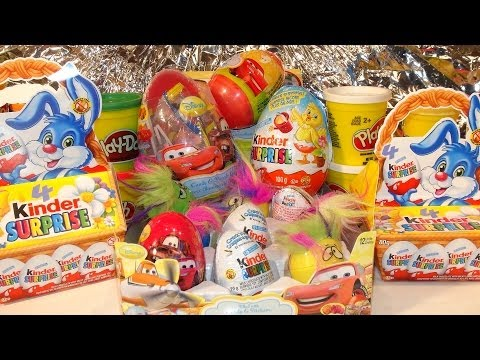surprise - Pixar Cars and Thomas and Friends Fan presents 20 Surprise Eggs Kinder Surprise Eggs Pixar Cars Disney Toys Kinder Magic Eggs and Play Doh Surprise eggs. We have Pixar Micro Drifters, Tattoos...