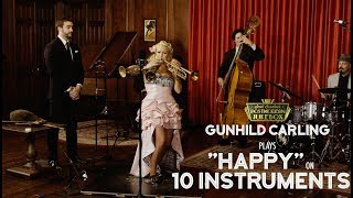 Download Lagu Happy - Pharrell Williams (on 10 Different Musical Instruments Cover) (ft. Gunhild Carling) Mp3