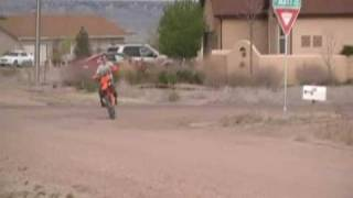 8. 2006 ktm 250 sx wheelies