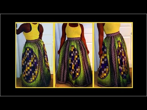 DIY: NO SEWING MACHINE NEEDED ANKARA MAXI SKIRT!!!