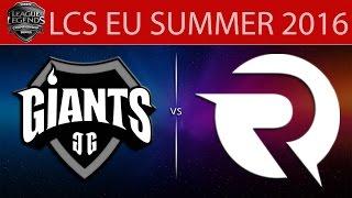 Giants vs Origen, game 1
