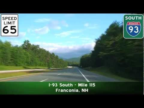 new hampshire - Follows I-93 South from Exit 36 to Exit 30 through Franconia Notch.
