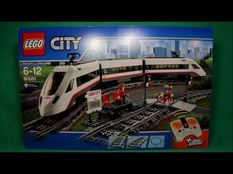 LEGO CITY - HIGH-SPEED PASSENGER TRAIN, 60051 / ЛЕГО СИТИ - СКОРОСТНОЙ ПАССАЖИРСКИЙ ПОЕЗД, 60051. (видео)