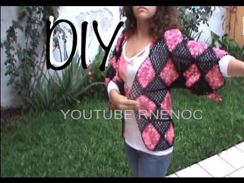 DE 6 COMO TEJER BLUSA SUETER CON CUADROS #ganchillo #crochet #DIY