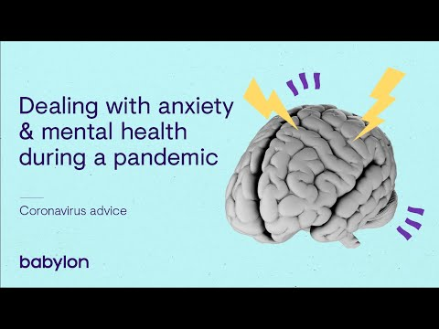 Dealing with anxiety and mental health during a pandemic