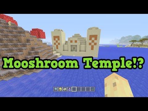 Minecraft Xbox 360 / PS3 - MUSHROOM BIOME TEMPLE SEED