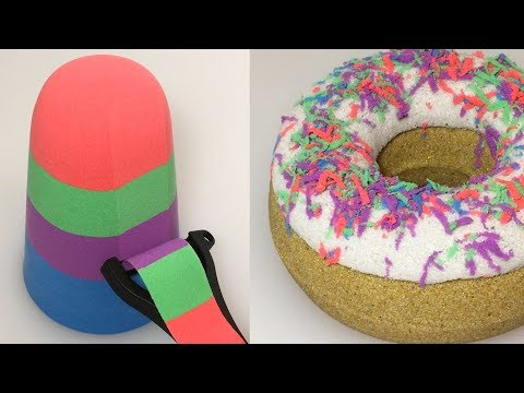 Very Satisfying How to Make Donut with Kinetic Sand MadMattr ASMR