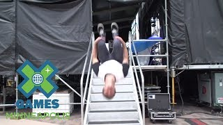 X Games co-host Craig McMorris learns the key ins and outs to the X Games music load-in.SUBSCRIBE ► http://xgam.es/YouTube X Games has been spreading the shred in action sports since 1995. For more coverage and highlights visit our official homepage at http://xgames.com---------Twitter ► https://twitter.com/xgamesFacebook ► https://www.facebook.com/XGamesInstagram ► https://instagram.com/xgames --------- Thanks for watching X Games!