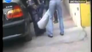 Lebanese Men Beating An Ethiopian Maid In Broad Daylight