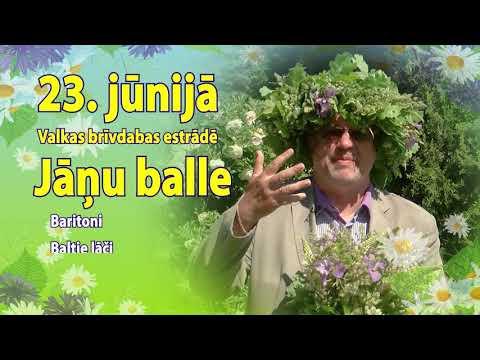 Jāņu balle Valkas brīvdabas estrādē 23.jūnijā