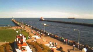 Duluth harbor entrance webcam time-lapse