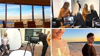 VLOG // GOODBYE HAIR! BTS @ Shoot + Sydney Trip + Beach Dinner by Lauren Curtis