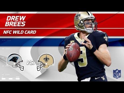 Video: Drew Brees' 376 Yards & 2 TDs vs. Carolina! | Panthers vs. Saints | Wild Card Player HLs