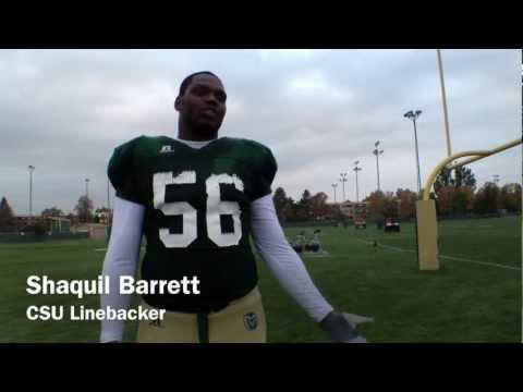 Shaquil Barrett Interview 10/10/2012 video.