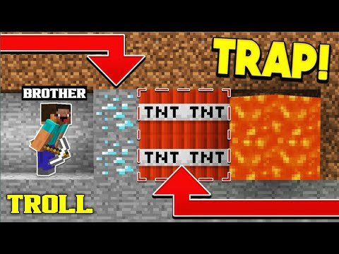 *TROLLING MY YOUNGER BROTHER IN MINECRAFT* || MINECRAFT PE || LORDN GAMING
