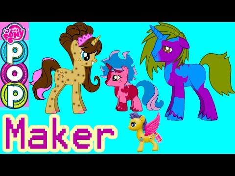 MLP POP My Little Pony Custom Maker 300K Subs Special Cookie Swirl Fluttershy Pinkie Pie Game Play