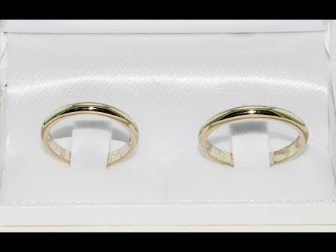 How to make wedding ring 18KT gold