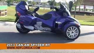 9. Used 2013 Can-Am Spyder RT Motorcycles for sale