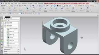 Please view updated version at https://www.youtube.com/watch?v=5vds-xt9uds. Siemens Nx CAD Basic Modeling Training...