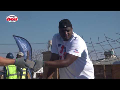 The NBA Cares during the NBA Africa Games