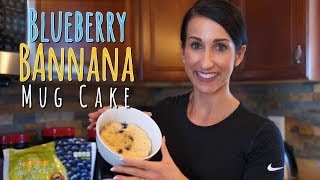 Adequate fiber in one's diet can help lower and maintain healthy cholesterol levels. This delicious and decadent blueberry banana mug cake contains 8 grams of fiber!Support Kara and Shop at http://www.tigerfitness.com/?Click=99952Subscribe to Kara http://www.youtube.com/karaleigh83Makes 1 Mug Cake: Ingredients:3/4 scoop Blueberry Muffin MTS Whey2 Tbs Coconut Flour1/4 tsp baking powder1/4 tsp coconut palm sugar (or other sweetener)Cinnamon1 Tbs Cashew Milk, Unsweetened1/2 medium ripe banana mashed 1 whole egg1/4 cup blueberriesDirections:Mix dry ingredients well, then add in mashed banana, 1 whole egg, and mix.  If needed add 1 tbs cashew milk.  Then fold in blueberries.  Cook in the microwave in a microwave safe bowl or mug for 2-2:30 minutes.  Nutrition in 1 Mug Cake: Fiber: 8gProtein: 34gCarbs: 34gFat: 8g