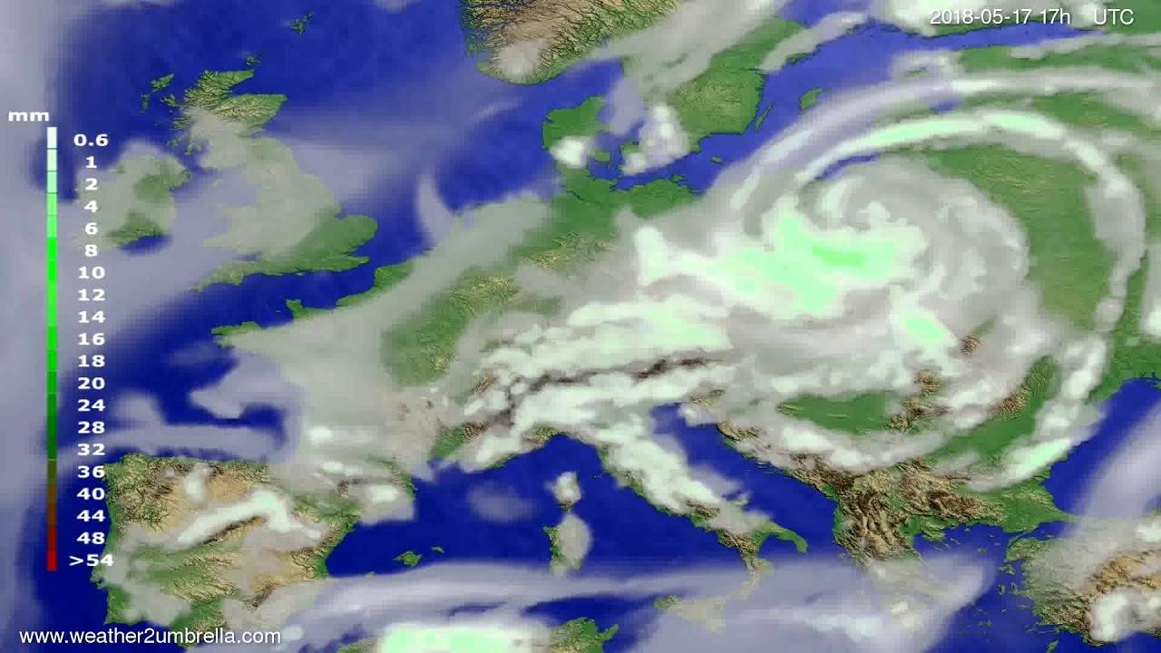 Precipitation forecast Europe 2018-05-15