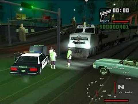 A Funny Moment In GTA SA: Railroad Crossing