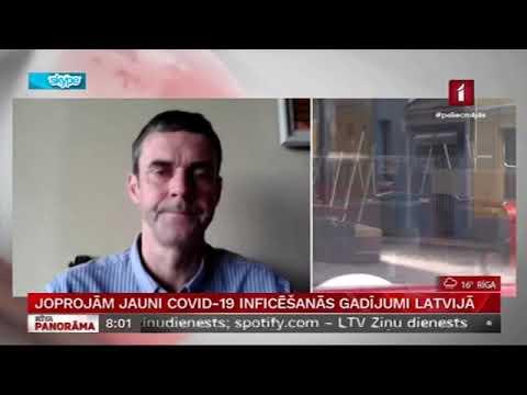 LTV saruna ar Veselības ministrijas galveno infektologu prof. Ugu Dumpi par to, ka joprojām ir jauni COVID-19 inficēšanās gadījumi Latvijā