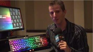 Corsair RGB Backlit Mechanical Keyboard - CES 2014