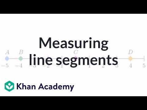 Measuring Line Segments Video Lines Khan Academy