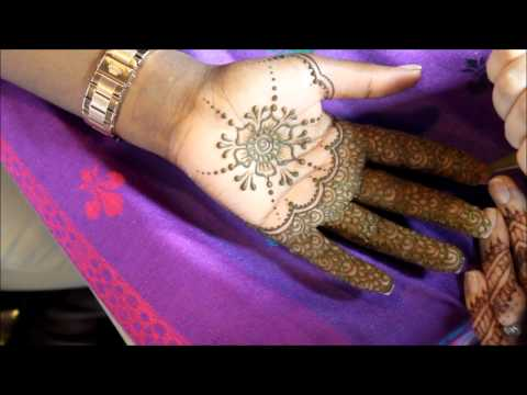 Simple Modern Bridal Henna Design On Palms – Mehndi by Boston Area Artist