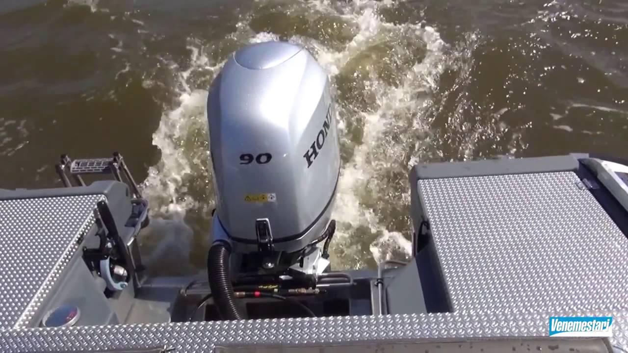 Алюминиевый катер Faster 560 CC | Тест-драйв катера на воде