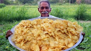 Potato Wafers   Crispy Potato Chips   Quick and Easy Aloo Chips Recipe   Grandpa Kitchen