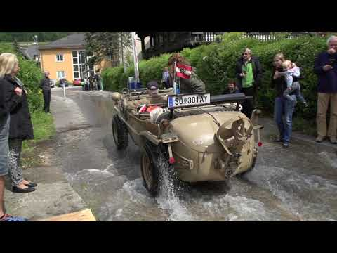 Schwimmwagen In Super Slow Motion At Attersee, Pfingstentreffen 2018.
