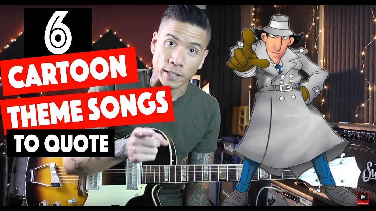 6 Cartoon Theme Songs to Quote In Your Solos   Guitar Lesson – Tutorial – Tab