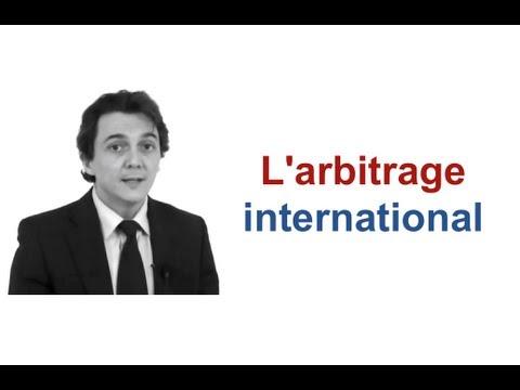L'arbitrage international