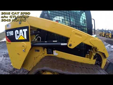 CATERPILLAR UNIWERSALNE ŁADOWARKI 279D equipment video y-queUFoVvg