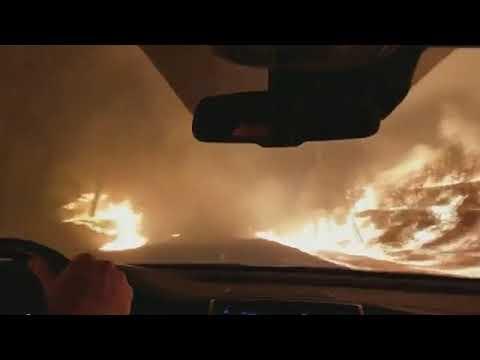 Дорога в Ад в реальной жизни Hell in Paradise США Калифония Жуткие кадры город Парадайз Fire