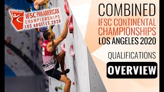 IFSC Pan-American Championships 2020 - MEN - Qualification Overview by International Federation of Sport Climbing