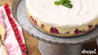 Get the recipe for Rhubarb Cheesecake at: http://allrecipes.com/recipe/25626/rhubarb-cheesecake/ Discover the delicious balance of tart and sweet in this creamy and decadent rhubarb cheesecake. Upon a simple crust of flour, sugar and butter, pour a mixture of rhubarb, sugar and flour and bake. Then top with cream cheese, sugar and eggs and bake some more. Then finish with a smooth sour cream topping and give in to the temptation!Subscribe to Allrecipes @ http://www.youtube.com/subscription_center?add_user=allrecipesAllrecipes Magazine is now available!U.S. subscribers, subscribe here: http://armagazine.com/subscribenowCanadian subscribers, subscribe here: http://themeredithstore.ca/p-282-allrecipes-subscription.aspxFacebookhttp://www.facebook.com/AllrecipesTwitter @Allrecipes