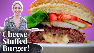 Olivia Grills a Juicy Lucy Burger For the First Time by Chowhound