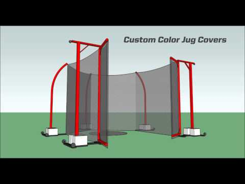 Custom Color Track & Field Safety Cages