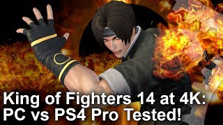 Guess what? King of Fighters 14 is pretty light on PC graphics hardware - a GTX 970 is more than enough to get the job done? So how does an older mainstream gaming PC compare to PS4 Pro? Interesting results here...DF Patreon supporters can grab the full fat video here: https://www.digitalfoundry.net/2017-07-04-king-of-fighters-14-pc-vs-ps4-pro-at-4kSubscribe for more Digital Foundry: http://bit.ly/DFSubscribe